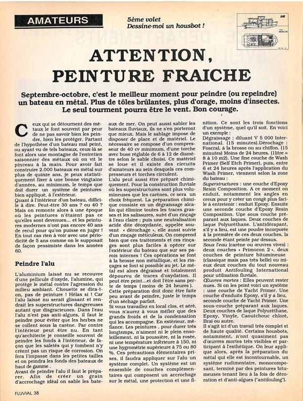 Revue fluvial articles magazine fluvial - Attention peinture fraiche ...