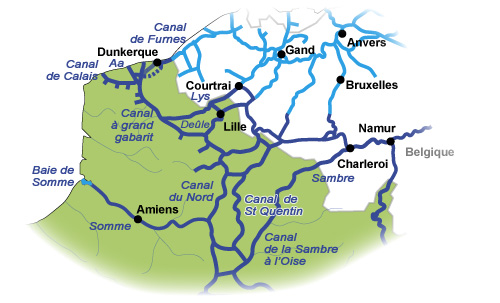Carte Belgique Canaux.Voies Navigables Fluviacarte