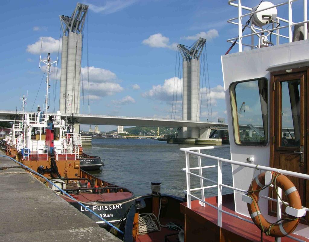 Rouen - Pont levant Flaubert (Photo PJL)