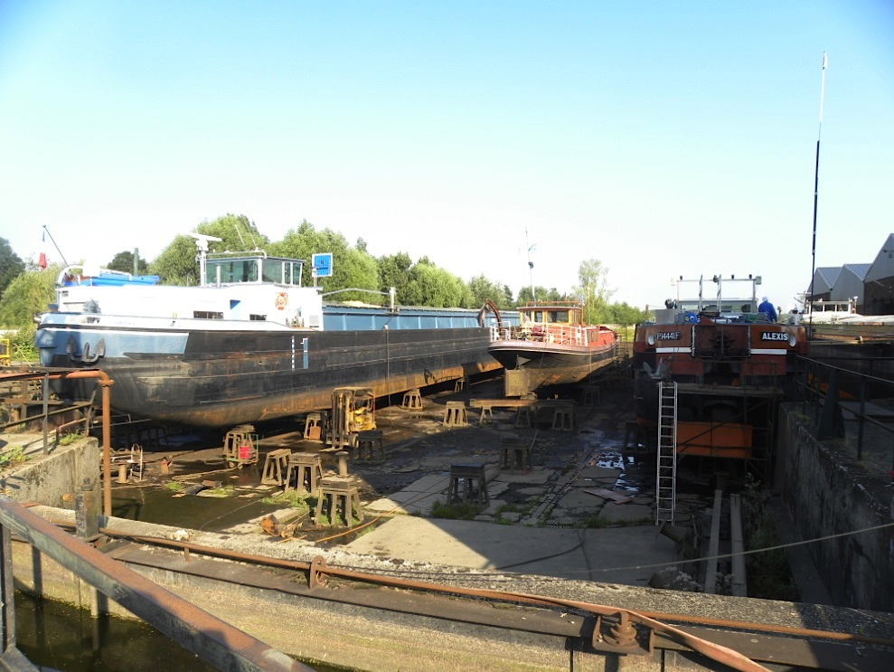 La cale du chantier naval Plaquet en août 2012 (Photo PJL)