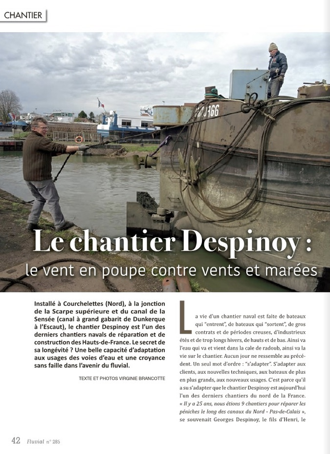 Le chantier Despinoy - Fluvial n°285