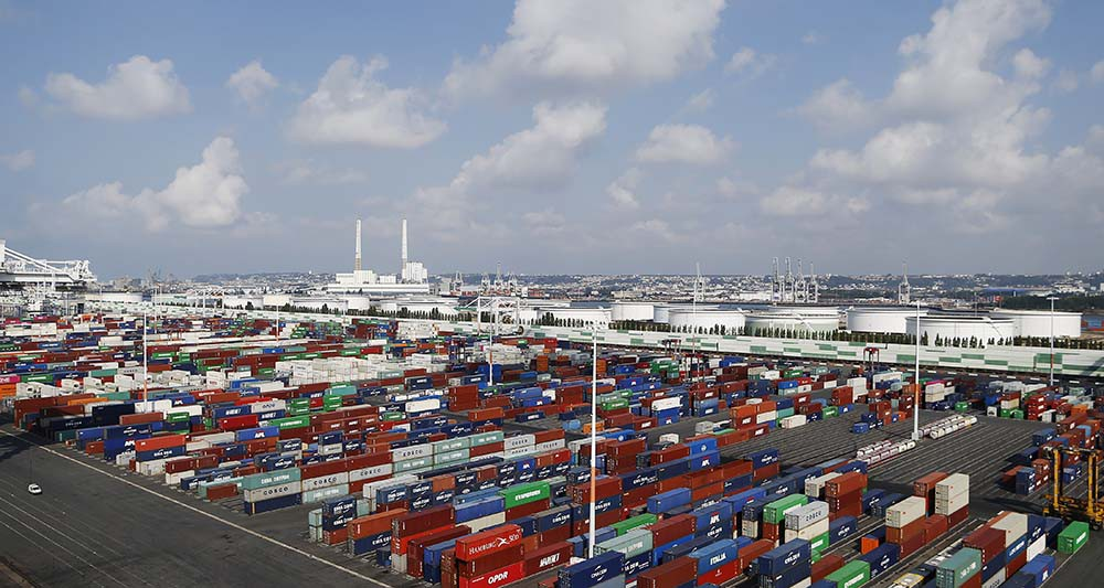 Le Havre, premier port français de conteneurs (Photo Charly Triballeau/AFP)
