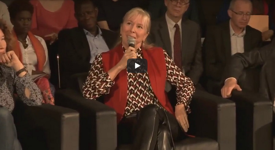 Intervention d'Elisabeth Ayrault au Grand Débat du Pacte Finance Climat (vidéo YouTube sur le site de la CNR)