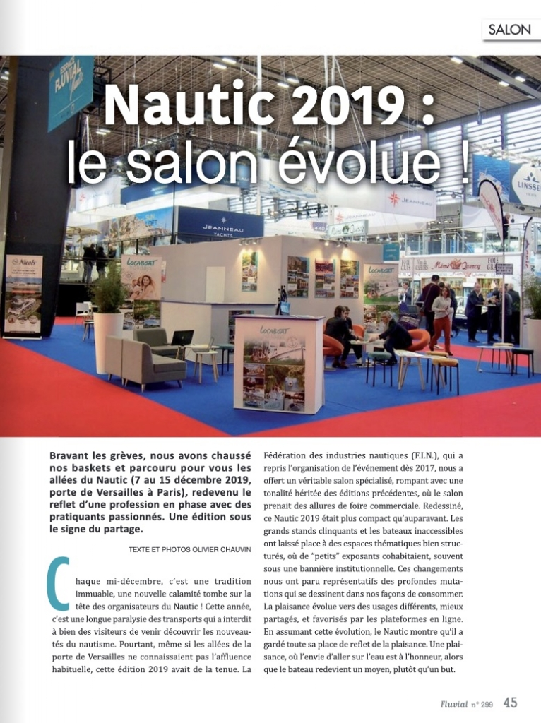 Nautic 2010 : Le salon évolue (Fluvial n°299)