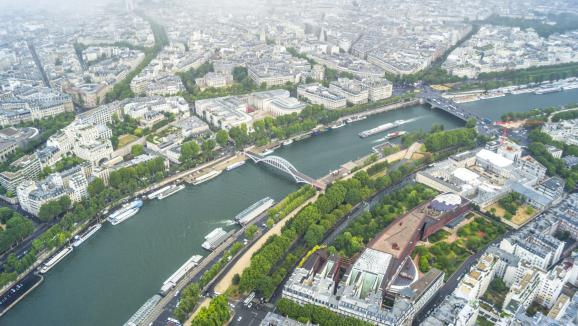 Vue aérienne de la Seine à Paris. (Photo GETTY IMAGES)