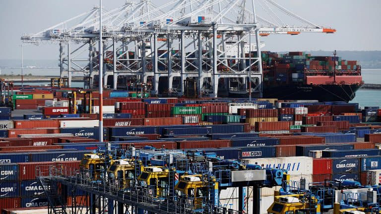 Des containers au port du Havre. (Photo AFP)